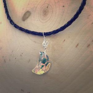 Jewelry - SWAROVSKI Black braided crystal choker.